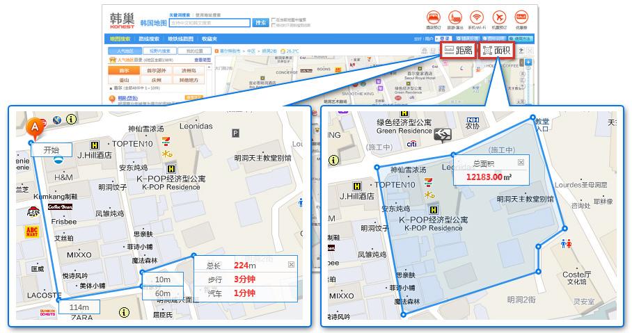 使用方法|韩巢韩国地图